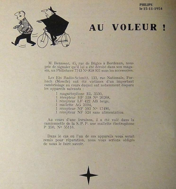 6 au voleur philips 15 nov1954