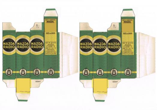 Mazda carton tube
