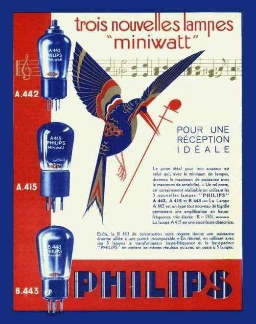 Pub lampes miniwatt philips