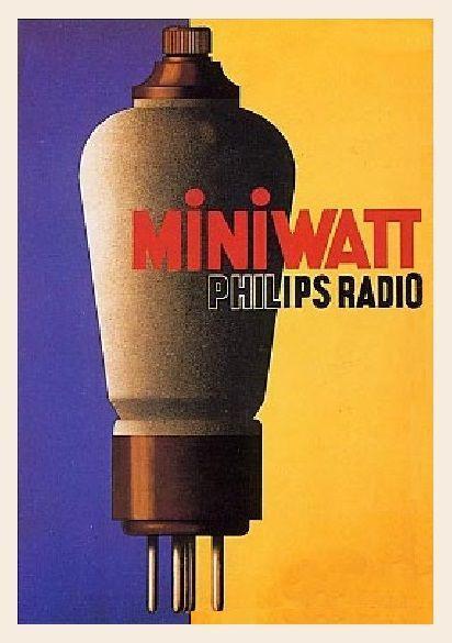 Pub lampes miniwatt
